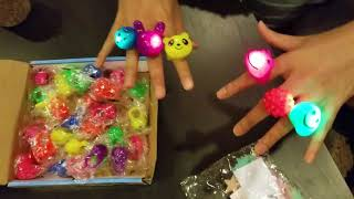 Mikulala 36 Pack Glow In The Dark Party Favors for Kids Light Up Rings Toys