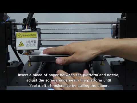 Manual Lveling ANYCUBIC i3 MEGA - YouTube