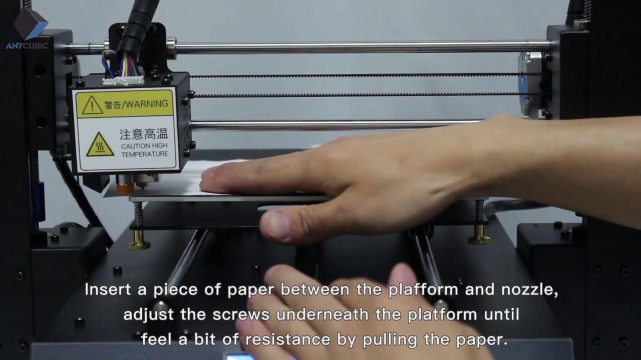 Manual Lveling ANYCUBIC i3 MEGA