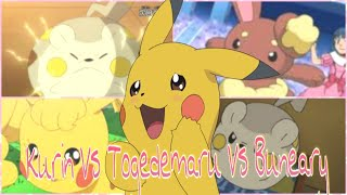 Pokemon Kurin vs Togedemaru vs Buneary - Pikachu AMV