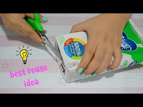 Best Reuse Idea With Milk Carton Box How To Recycle Milk Carton Box