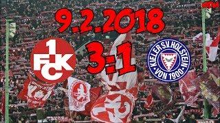 1. FC Kaiserslautern 3:1 Holstein Kiel - 9.2.2018 - SIEG!!!