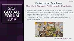 Factorization Machines, Visual Analytics, and Personalized Marketing