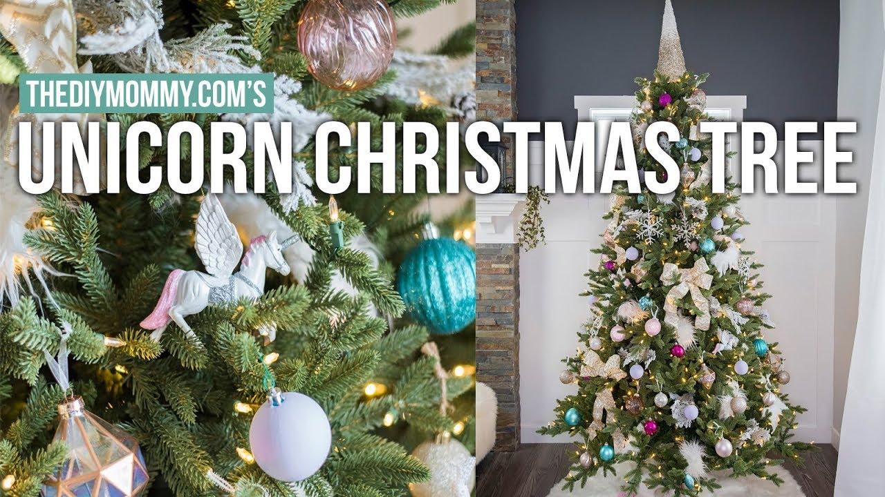 Unicorn Inspired Christmas Tree Creativechristmas The Diy Mommy