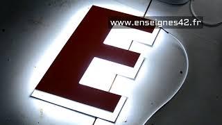 retro eclairage + | lettres à éclairage led pour enseigne lumineuse