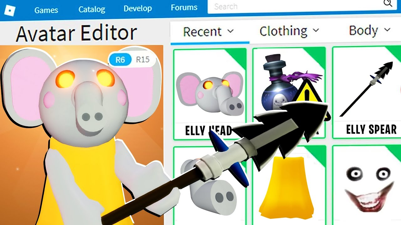 PIGGY DISGUISE TROLLING!! Pretending To Be FAKE ELLY ELEPHANT PIGGY In ROBLOX PIGGY!! (BOT TROLLING)