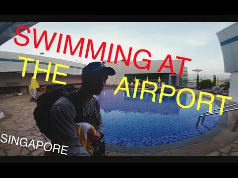 Swimming At The Airport   Changi International Airport, Singapore