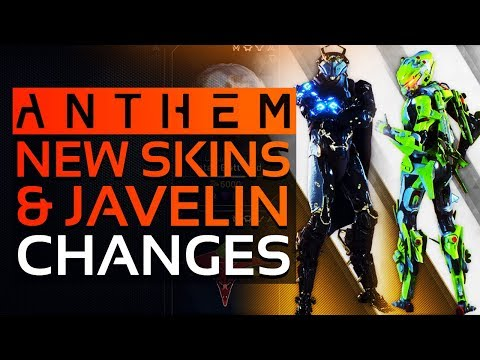 Anthem -  NEW SKINS, COSMETICS SHOP UPDATE, More DAY 1 UPDATE Changes & Javelin Balancing!