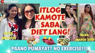 Paano Pumayat?🥚ITLOG🍠KAMOTE🍌SABA Diet lang!WALANG EXERCISE