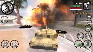 iOS GTA SA M1A2 Tank Mod 這是PC版的小體積模組放到iPhone上可完美執行...
