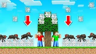 Minecraft BUT It's Raining COBWEBS That KILL YOU!