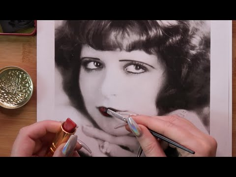 ASMR Putting 1920s makeup on 1920s starlets thumbnail