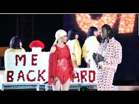 Offset Pulls Up To Cardi B On Stage Asking For A Second Chance Amidst Cheating Rumors