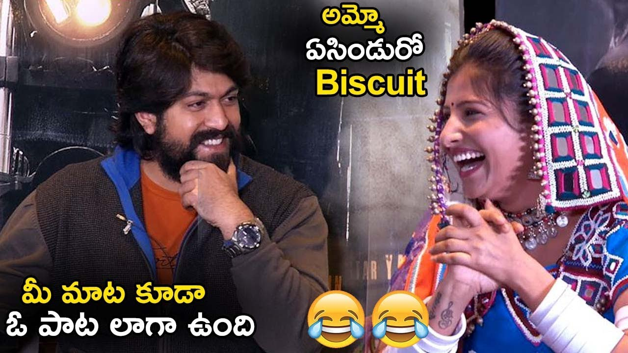Kgf Hero Yash Makes Fun With Mangli Kgf Movie Interview With