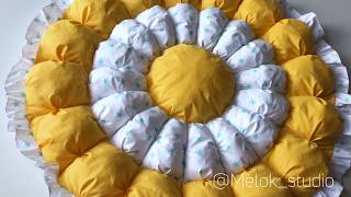 Круглое Бонбон одеяло Мастер Класс сшить своими руками