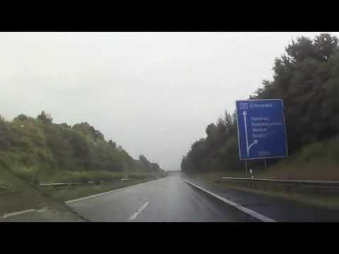 #Video - #Deutschland geht im Regen unter #Autobahnen und #Bundesstraßen Deutschlands #footage