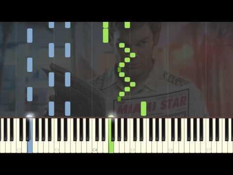 Dexter Theme - Easy Piano Tutorial Synthesia