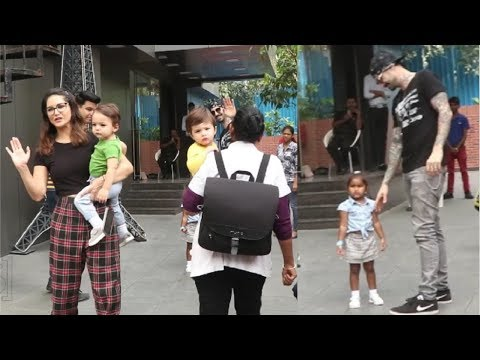 Sunny Leone & Husband Daniel Weber CUTE Moment With Daughter & Twin Sons