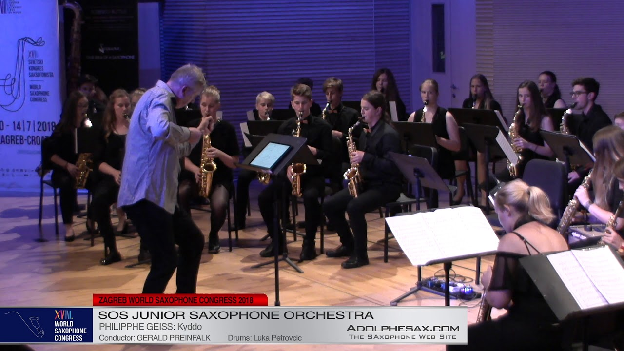 Kyddo by Philippe Geiss    SOS Junior Orchestra   XVIII World Sax Congress 2018 #adolphesax