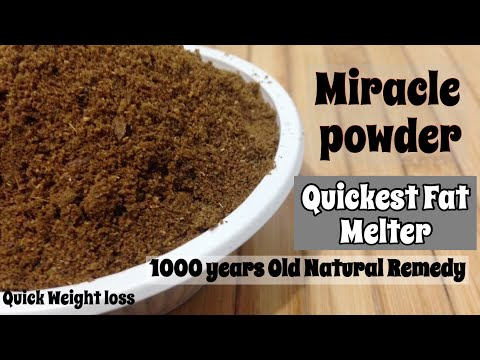 Miracle Powder for Quick Weight Loss | Natural Remedy to lose Weight | Ayurvedic Fat Melter