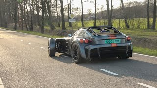 Donkervoort D8 GTO RS - Lovely Accelerating Sounds and Powerslides!