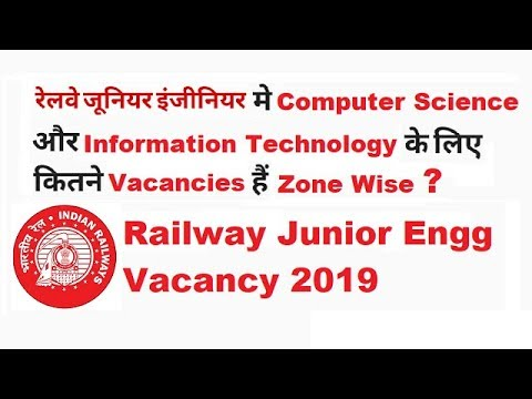 Railway JE Vacancies 2019 | Total Post for Computer Science & IT | S & T Department