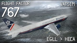 x plane 10   flight factor 767 baw155 to cairo   part 1 2