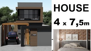 SMALL HOUSE 4 x 7 METERS - 2 BEDROOMS