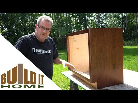 Staining And Spray Finishing The Vanity Cabinet