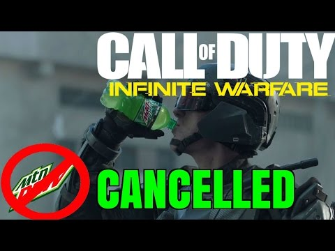 Call Of Duty Infinite Warfare: 2XP Mountain Dew Partnership CANCELLED!!? Titan Fall 2 + Mountain Dew