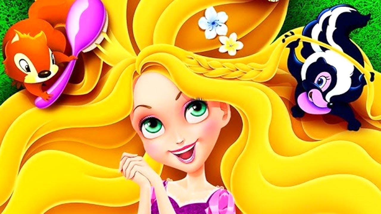 Long Hair Princess Rapunzel Hair Salon Magic Hairstyle Makeover Games For Girls