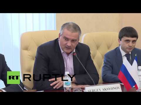 Russia: Crimean PM Aksyonov greets Polish politicians on fact-finding mission