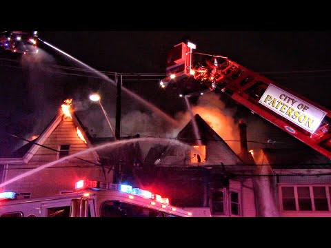 VIDEO: Four-Alarm Paterson Multi-Building Blaze Displaces 20, No Serious Injuries Reported