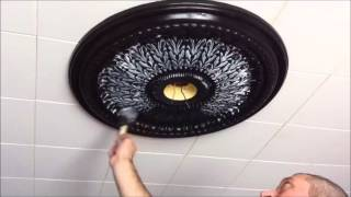 Changing A Ceiling Medallion & Light Fixture