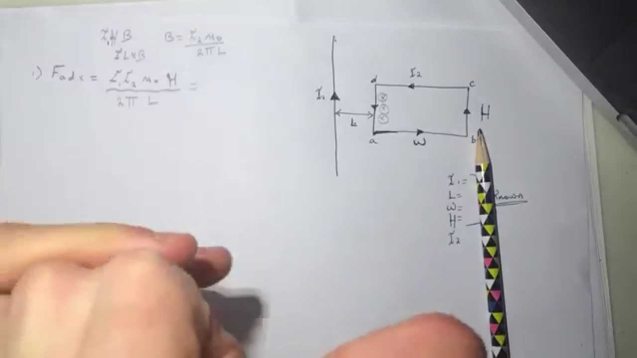 Wire And Rectangular Loop Smartphysics Solution Youtube Image Showing Wiring Diagram Of A At The