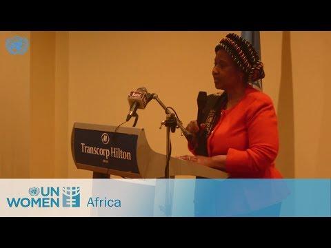 Executive Director Phumzile Mlambo-Ngcuka in Nigeria championing women's rights