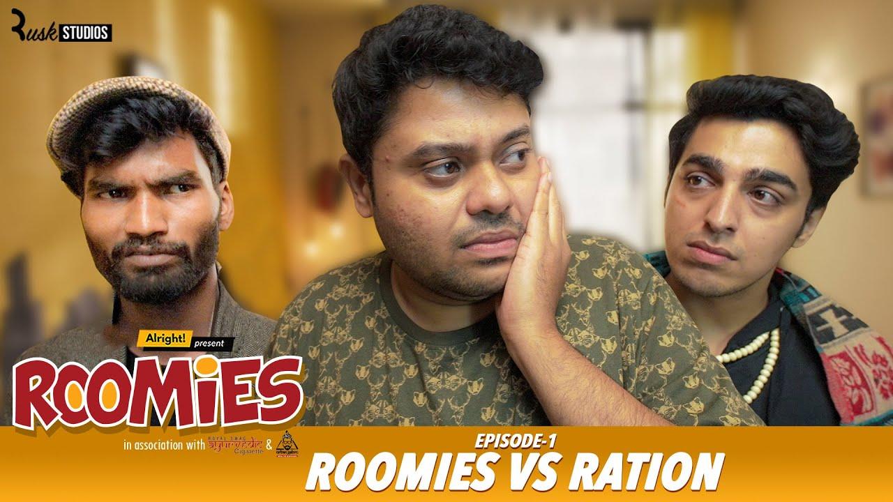 Download Roomies | Ep1/3: RATION | Mini Web Series | Gagan Arora, Nikhil Vijay, Badri & Anushka | Alright!