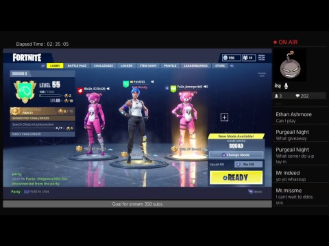 (Fortnite) Playing With Subs Road to 400 subs Giveaway(PS4) (Live)
