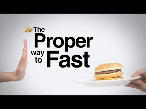 What is the proper way to fast? | That's in the Bible