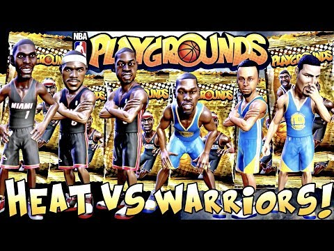 NBA Playgrounds!!! NBA Finals Champions Match Up!!! 2013 Heat vs 2017 Warriors Gameplay!!!