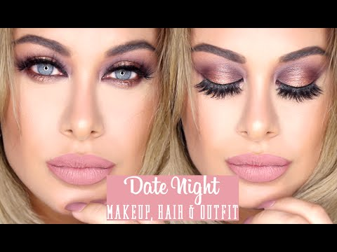 Affordable Date Night Makeup, hair & Outfit - Carli Bybel palette & BooHoo