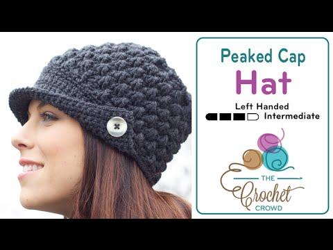 4b3f5816 How to Crochet A Hat: Women's Peak Hat Left Handed - YouTube