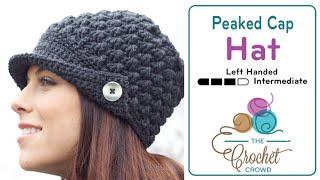 Left Hand Version: Learn to Crochet this Vintage Women's Peaked Hat...