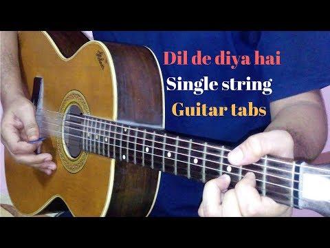 dil-de-diya-hai-single-string-guitar-tabs-lead-lesson-cover-|-masti
