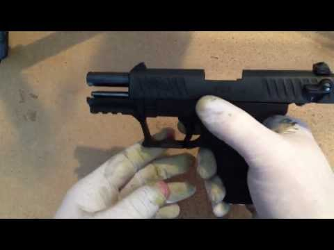 Tearing down in cleaning the Walther P22. By How-to Bob