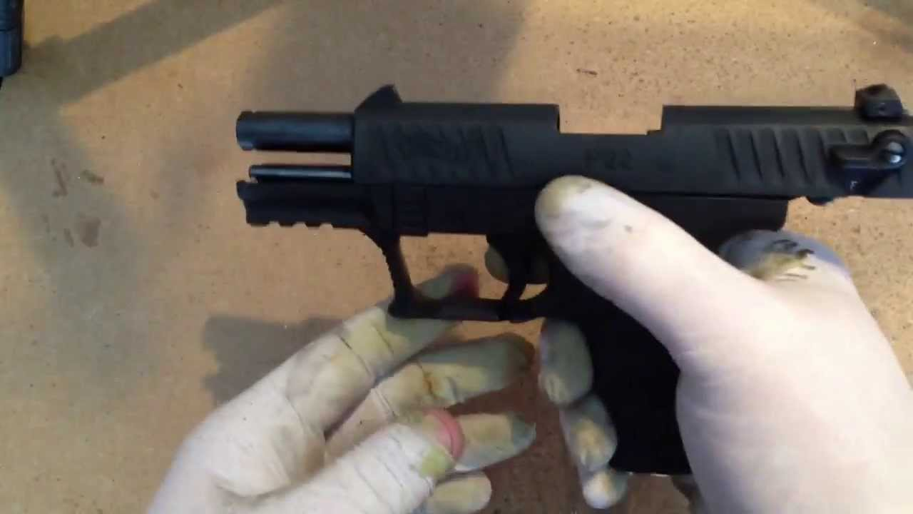 Tearing down in cleaning the Walther P22  By How-to Bob
