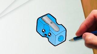 Como desenhar um apontador de lápis kawaii