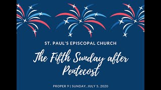 The 5th Sunday after Pentecost