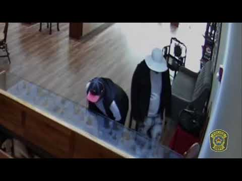 Raw: Sugar Land jewelry smash-and-grab caught on video