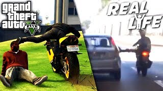 GTA 5 VS REAL LIFE 9 fun, fail, stunt, ...